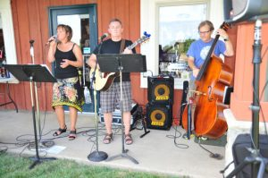 The group The Bare Essentials, from Avondale, provided the music during Yappy Hour.