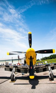 A Rolls Royce V-12 Merlin engine gives thee P-51 Mustang more than 1,000 horsepower.