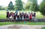 The staff at Chadds Ford Elementary School take the ALS Ice Bucket Challenge o Aug. 26.