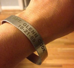 Diane Lemonides wore Capt. Glenn Richard Cook's POW bracelet for more than five years before putting it away for safekeeping.