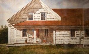 """Bradley Hendershot says his work """"Divided""""represents political division in the country."""