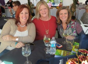 Dena Sokoll (from left), Melissa Griffith, and Wendy King, all of West Chester, said they look forward to attending the Dilworthtown Inn Wine Festival each year.