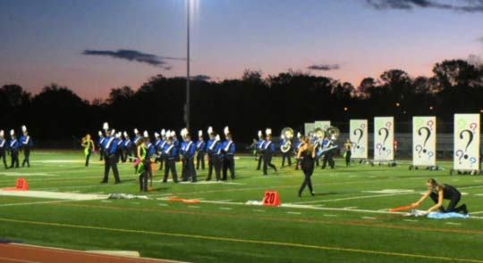 """The Kennett High School band performs its show, """"What If?"""" during the March on the Brandywine at Unionville High."""