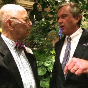 Frolic Weymouth (left), chats with Robert F. Kennedy Jr.
