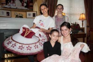 Clockwise from top left: Anastasia, Azelie, Philomena and Catherine Faia.