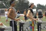Members of the Cavalcade of Bands Honor Band are shown during a summer practice session for their Rose Bowl performance on Jan. 1 in Pasadena, Ca.