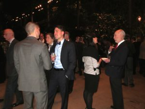 Guests mingle outside Longwood's Ballroom on Tuesday night before the premiere of 'Pulling Out All the Stops.'