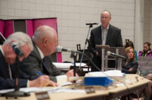 John Snook, from the Brandywine Conservancy and Museum of Art, addresses the Concord Township Planning Commission.
