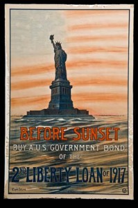A WWI poster for bonds.