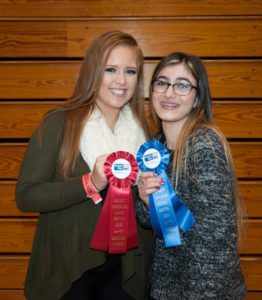 Shelby Huntedr, left, and Elana Lindner, both of Chadds Ford take home honors for their entries in the festival.