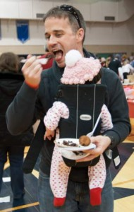 Todd McGarvey, of Springfield, Delaware County, shows you don't have to be a kid to love chocolate.