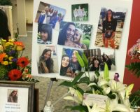 Photos and flowers were plentiful at the funeral for Karlie Hall, 18, of Chadds Ford.