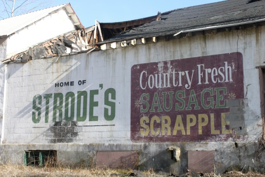 The former Strode's sausage plant in East Bradford Township is showing signs of disrepair.