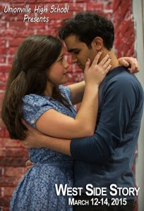 Karalyn Joseph and Abu Akki are starring in Unionville High's production of 'West Side Story.' Photo by Greg Joseph