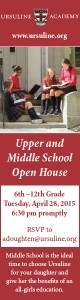 Ursuline Academy Open House