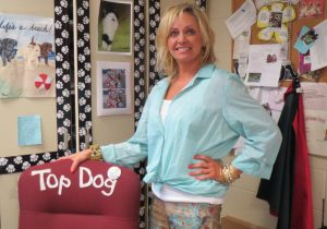 Kelli Kahn serves as top dog in her puppy-themed first-grade classroom at Pocopson Elementary.