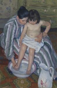The Child's Bath by Mary Cassatt