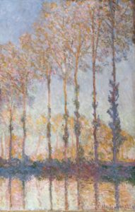 Poplars on the Bank of the Epte River by Claude Monet
