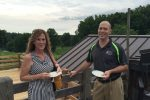 Teresa Banghart and Anton Dell O'rifice enjoy the summer evening