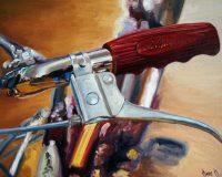 """Schwinn"" by David Dziemian for ""Pedal"" show at Mala Galleria"