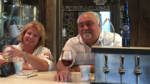 Deb Love and Larry Ferriola toast to a good time