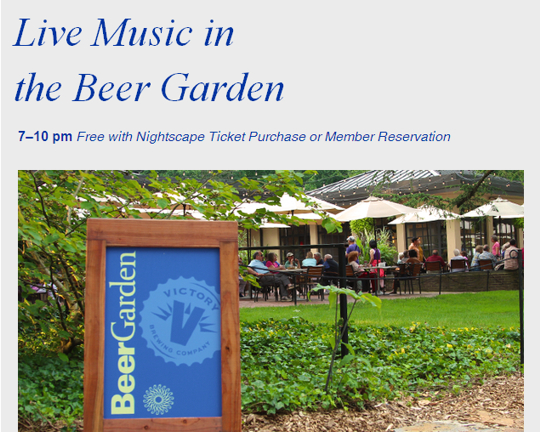 Live Music in the Beer Garden at Longwood Gardens