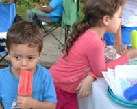 Popsicle proved to be a popular finale during Kennett Square's National Night Out, a celebration of the positive relationship between police and the community.
