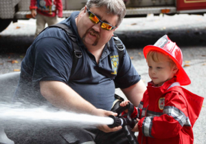 Truck & Tractor Day, which helps support the Winterthur Fire Company, offers activities for all ages. Laslo Bodo photo courtesy of Winterthur