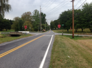 The intersection of Bayard and Rosedale roads in Kennett Township has been changed to a four-way stop.
