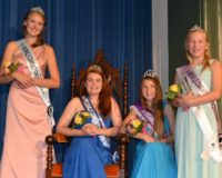 Unionville Community Fair Queen and Princess Pageant participants – Clarisse Cofrancesco (from left), Shannon White, Lexus McKinney, and Lauren Chamberlain – pose after receiving their crowns and sashes.