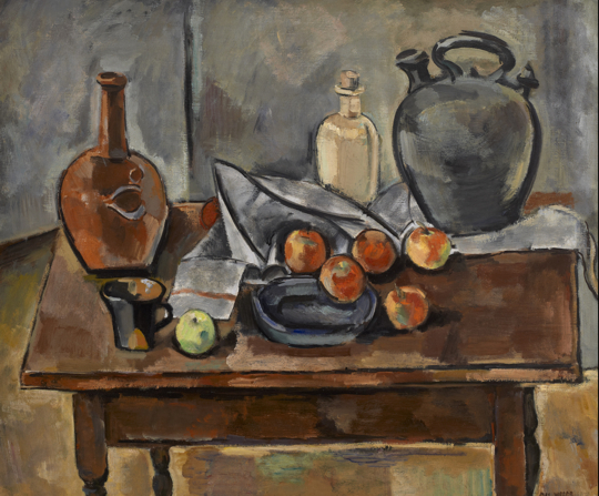 Three Jugs, 1928, by Max Weber (The Hevrdejs Collection)