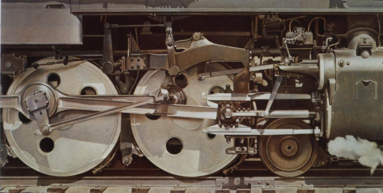 Rolling Power, 1939, by Charles Sheeler (Smith College Museum of Art, Northampton, Massachusetts: Purchased with the Drayton Hillyer Fund)