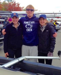 Siblings Kaitlyn Drohan (from left), 17, Matthew Drohan, 21, and Megan Drohan, 17, pose at the Head of the Charles Regatta in Boston. Photo by Cheryl Drohan.