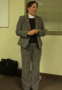 Jane E. Dorchester, a historic preservation consultant, explains a historical survey the township is pursuing.