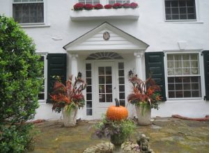 Like this West Chester Borough residence, most of the Chester County Day homes featured lovely fall decor.