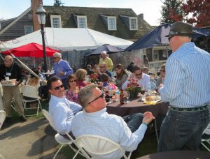 Guests at the 2014 Dilworthtown Inn Wine Festival enjoy the refreshments and camaraderie.