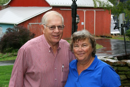 Howard and Janet Robinson, recipients of Chester County's Distinguished Service to Agriculture Award, are shown on their farm in Oxford.