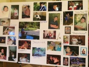 A photo collage highlights the personality traits of Brian R. Allyon, who died last week of natural causes at the age of 16.