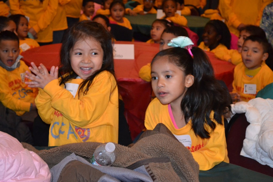 Students at the Chester County Family Academy in West Chester eagerly await the beginning of the Second Annual Shop with the Sheriff on Saturday, Dec. 5.