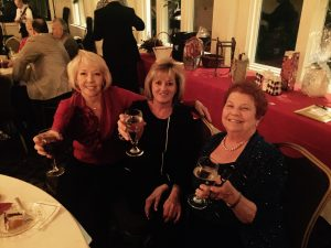 Sofia Clinger, Sue Getz and Sharon Westwood (left to right) wish all a happy holiday