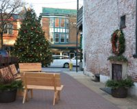 """Historic Kennett Square is inviting visitors to """"meet me by the tree"""" in a holiday pocket park in the borough's downtown area."""