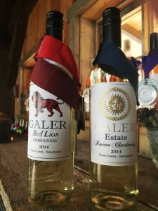 Two Galer Estate prize winning Chardonnay wines