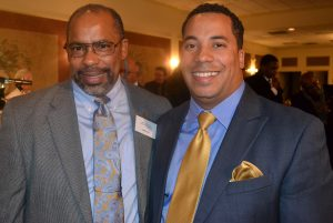 Keynote speaker Jerry F. Poe (left) poses with his son, Jerry Franklin Poe.