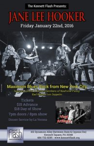 Rock and blues will dominate the Kennett Flash on Friday, Jan. 22.