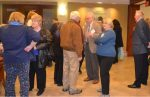 The audience socializes before the formal program for the annual meeting of Historic Kennett Square, held on Thursday, Jan. 28, in the Genesis building.