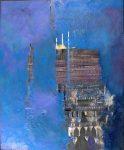 MONOLITH, encaustic by Alan Sofer, Church Street Gallery