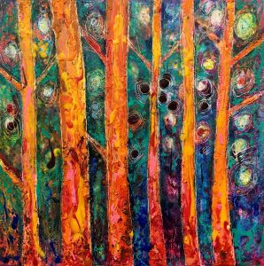 Crayon forest by Lele Galer