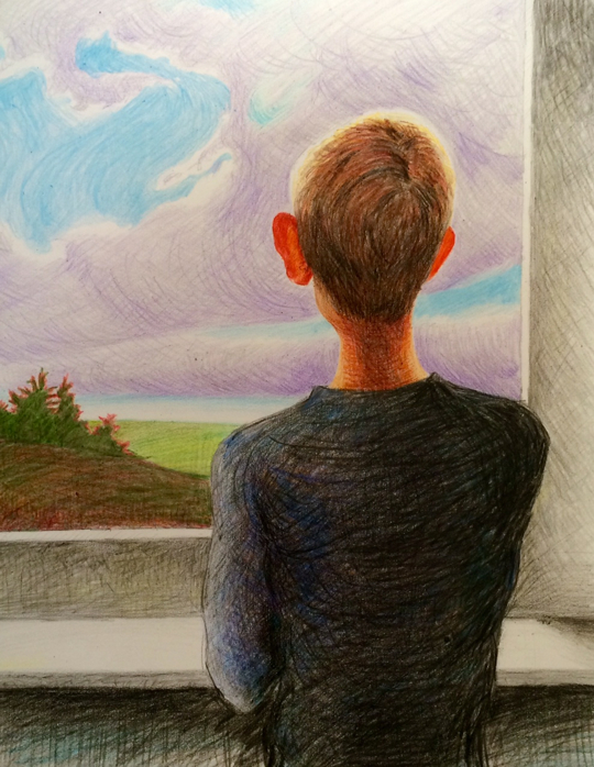 "Randall Graham ""imagination"" in crayons"
