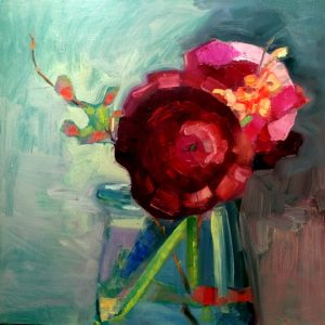 Together-Ranunculus, Peony and Quince, by Monique Sarkessian