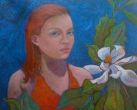 Girl with Magnolia, by Lauren Litwa Holden, RCWA show